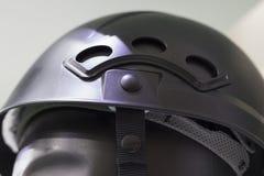 Бирюза Blanck с черным шлемом безопасности; Работая трудная шляпа; В Стоковые Фото