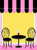 бистро тента предводительствует таблицу ресторана Стоковое Фото