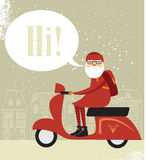 Битник Санта Клауса Стоковое Изображение RF
