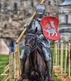 Биться рыцарь верхом стоковое фото rf