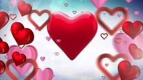 Бить красное сердце сток-видео