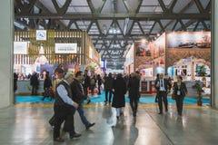Бит 2015 людей посещая, международный обмен туризма в милане, Италии Стоковое Фото