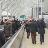 Бит 2015 людей посещая, международный обмен туризма в милане, Италии Стоковые Фотографии RF