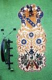 БИШОФСХОФЕН, АВСТРИЯ, ЕВРОПА - 15-ОЕ ОКТЯБРЯ 2018: Деталь Arhitectural в центре городка стоковое изображение