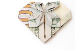 Билл в форме сердца на белой предпосылке Стоковые Фотографии RF