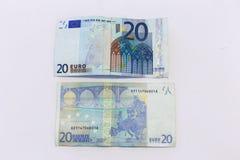 2 билета 20 евро Стоковое Изображение