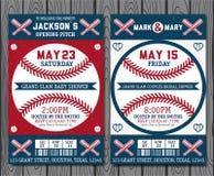 Билеты бейсбола иллюстрация штока