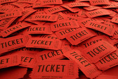 Билеты используемые для входа в событие Стоковые Изображения