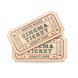 Билеты кино вектора Стоковое Изображение