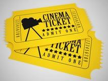 Билеты кино Иллюстрация вектора