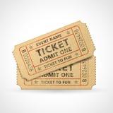 Билеты кино Grunge вектора Стоковое Фото