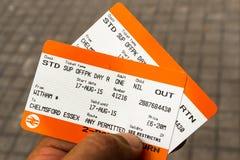Билеты на поезд Стоковое фото RF