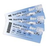 Билеты посадочного талона авиакомпании к Берлину Стоковая Фотография RF