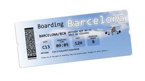 Билеты посадочного талона авиакомпании к Стоковые Фотографии RF