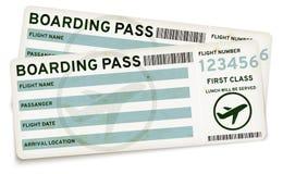 Билеты посадочного талона Стоковые Изображения RF