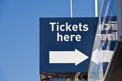 Билеты для продажи Стоковые Фотографии RF