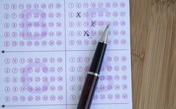 Билет и ручка лотереи стоковое фото rf