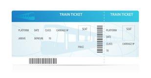 Билет на поезд вектора. Tamplate (план) Стоковое Изображение