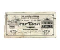 Билет оперы театра Нового Орлеана Орлеана Стоковое Изображение RF