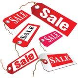 Билет продажи в векторе красного цвета Стоковые Изображения