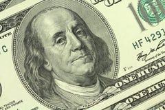 Билл 100 долларов предпосылки Стоковое Изображение RF