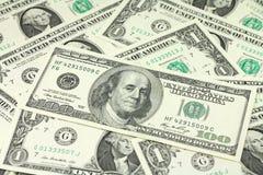 Билл 100 долларов предпосылки Стоковая Фотография