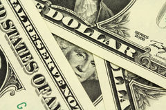 Билл одна предпосылка доллара США Стоковое Изображение RF