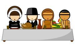 благодарение иллюстрации обеда дня Стоковое Изображение RF