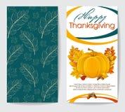 Благодарение 2 рогулек открыток счастливое Стоковое Изображение RF