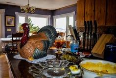 Благодарение Турция в кухне Стоковая Фотография RF