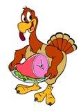 Благодарение Турция с ветчиной Стоковое Изображение