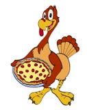 Благодарение Турция с пиццей Стоковые Изображения
