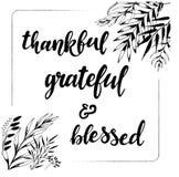 благодарно признательно благословленная фраза написанная рукой бесплатная иллюстрация