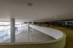 Благородный мезонин комнаты на дворце Planalto - Brasilia, Distrito федеральном, Бразилии стоковые фото
