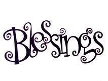 Благословения слова изолированные в белой предпосылке стоковое фото rf