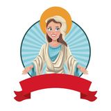 Благословленное девой марией изображение sac бесплатная иллюстрация