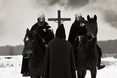 благословляет пилигрима крестоносцев кампании Стоковое Изображение