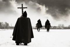 благословляет пилигрима крестоносцев кампании Стоковое Фото