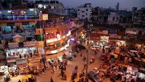 Благотворительный базар ночи главный в Нью-Дели видеоматериал