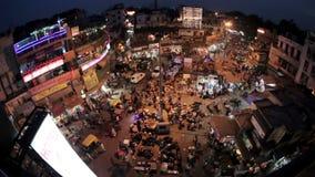 Благотворительный базар ночи главный в Нью-Дели сток-видео