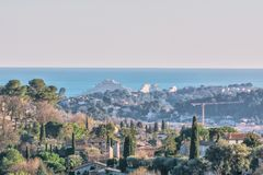 Благоустраивайте взгляд от St Paul de Vence, Франции Стоковое Изображение RF