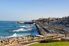 Благоустраивайте взгляд старого порта города Яффы в Тель-Авив Яффе стоковое изображение