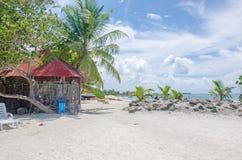 Благоустраивайте побережье Индийского океана на Мальдивах стоковые фото