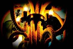 Блеск лампы в темноте стоковое изображение rf