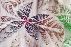 Блестящая абстрактная бабочка фрактали стоковые изображения