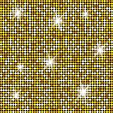 Блестящая текстура золота для вашего дизайна Каменная плита вымощая картину Геометрическая безшовная картина вектора иллюстрация штока