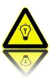 блестящие идеи предупреждая зону стоковая фотография