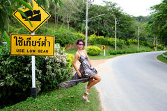 блестящий hitchhiker Стоковая Фотография