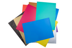 близкая бумага цвета вверх по белизне Стоковая Фотография RF