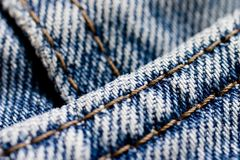 близкая джинсовая ткань вверх Стоковые Изображения RF
